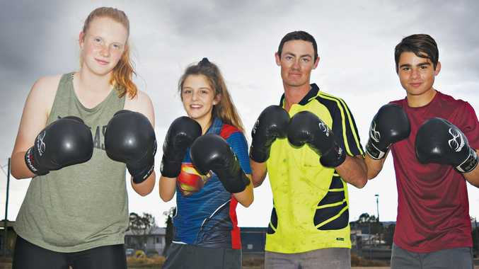 KEEN BOXERS: Warwick Boxing Club members (from left) Bethany McMahon, Felicity Parsons, Nick Dwan and Jake Wyllie have high hopes in the sport.