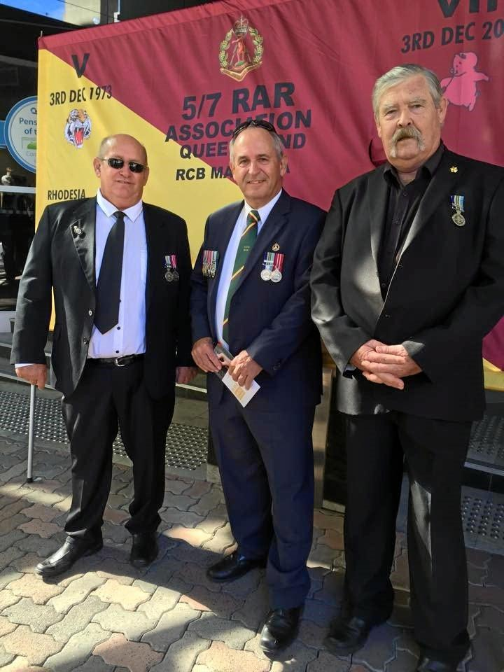 DEPLOYED: Rod Bruce-Smith, Les Ray and Phil Hall all served at Butterworth in 1974.