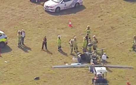 A PILOT has been transported to hospital following a
