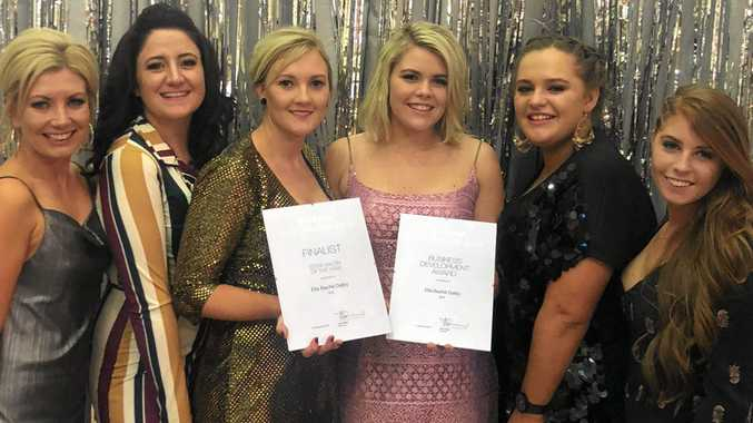 AWARDS NIGHT: Natalie Leis, Sam Burwood, Gemma Lowe, Meg Wilkie, Alexa Goodmanson and Laycee Fermor from Ella bache Dalby, receiving thier accolades last weekend in Sydney.