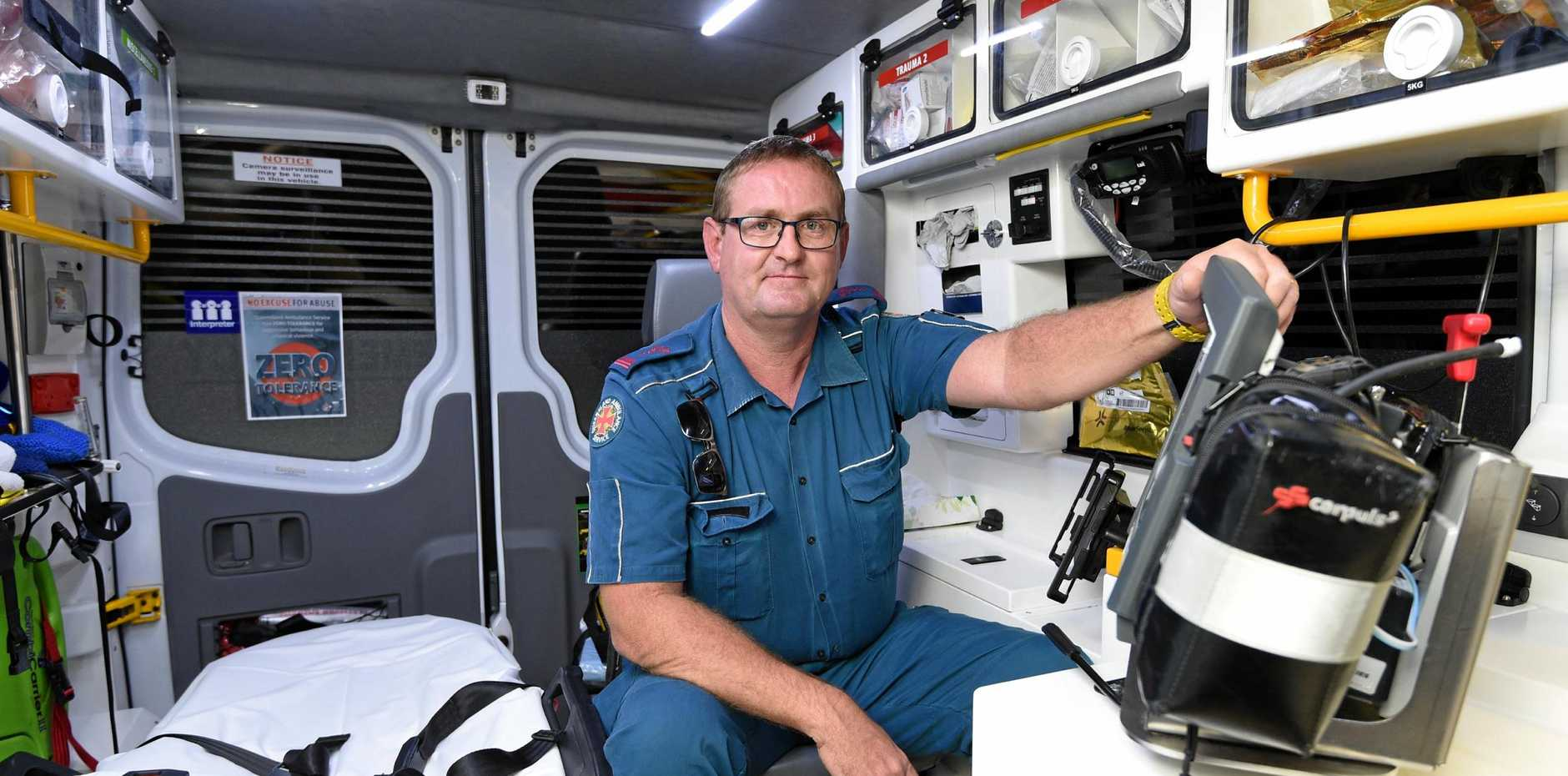 HERE TO HELP: Hervey Bay's advanced care paramedic Mike Neeson.