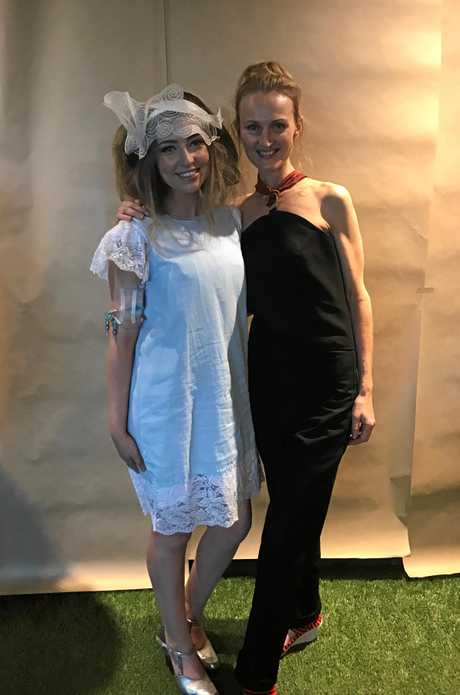 VOGUE: At Melbourne Fashion Week Nikki Find with model Renée at the 'Access To Fashion' event.
