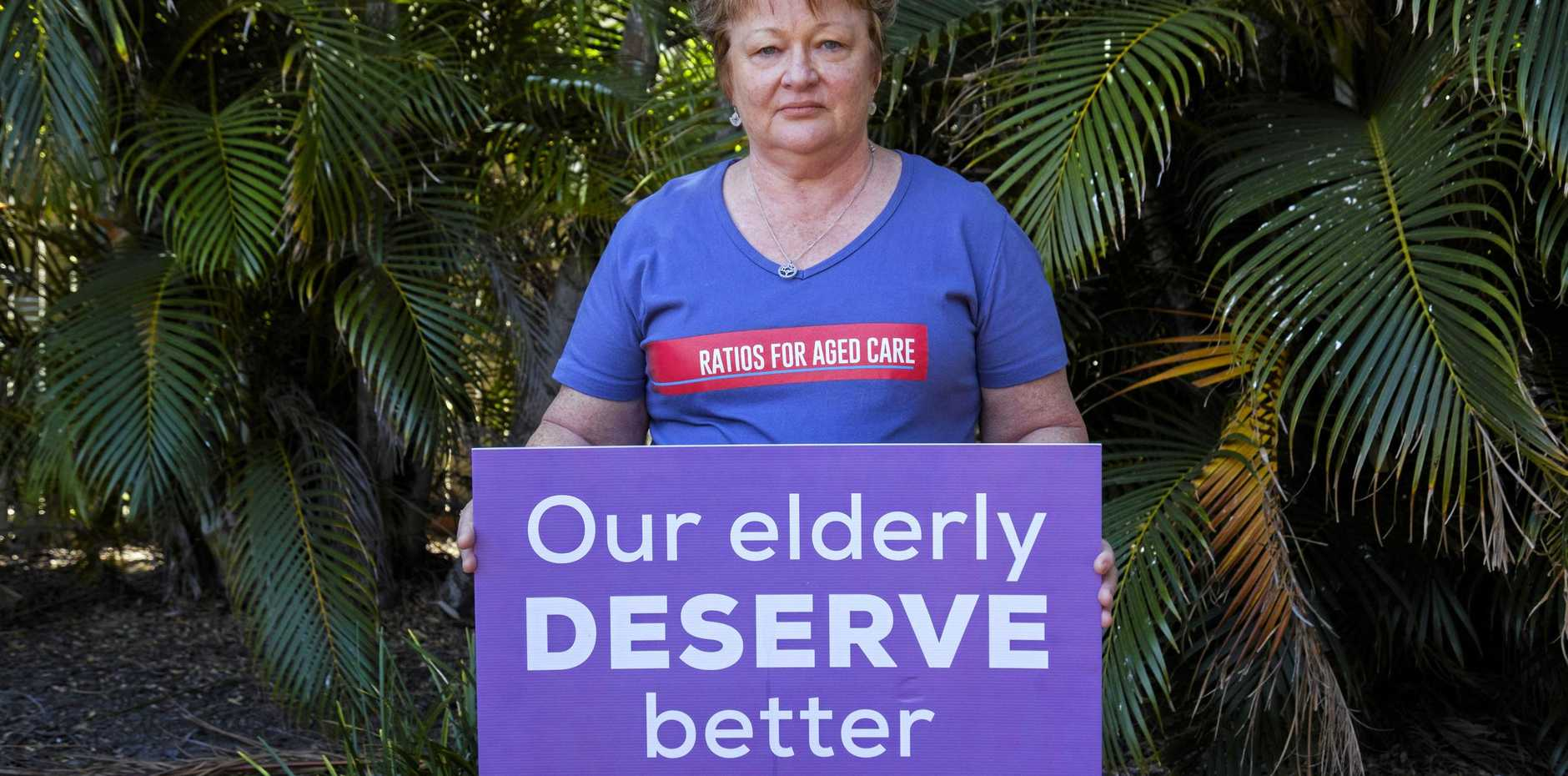 MAKE IT LAW: Former aged care worker and registered nurse of 38 years Carolyn Waters is a delegate and activist for QNMU.