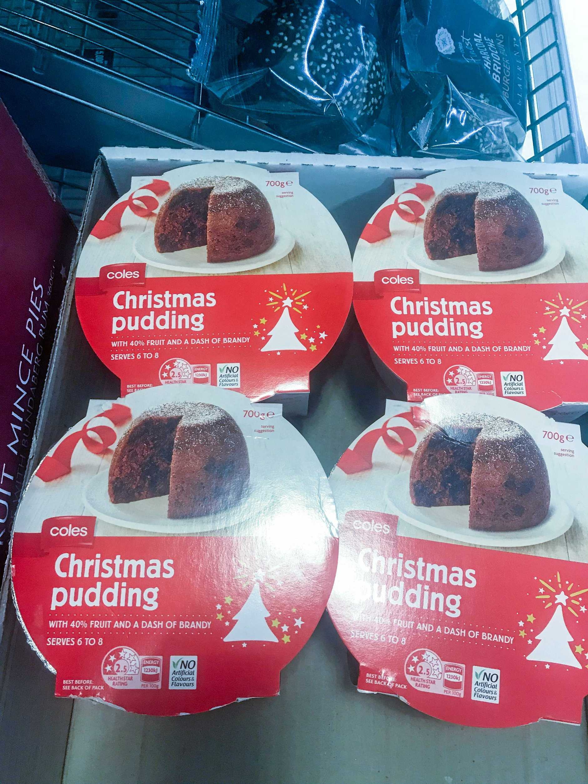 WINTER WARMER? Nothing like a Christmas pudding on a nippy spring night.