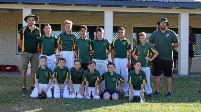 REPRESENTING: The South Burnett boys team at the wide bay cricket trials.
