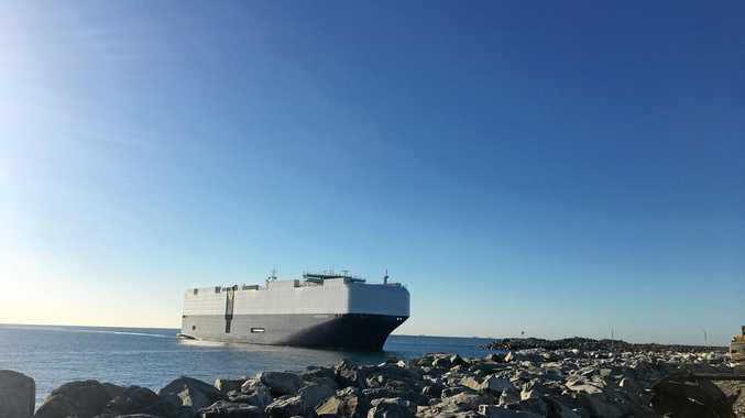 INNOVATIVE CHANGE: The first RORO ship coming into the Port of Mackay.
