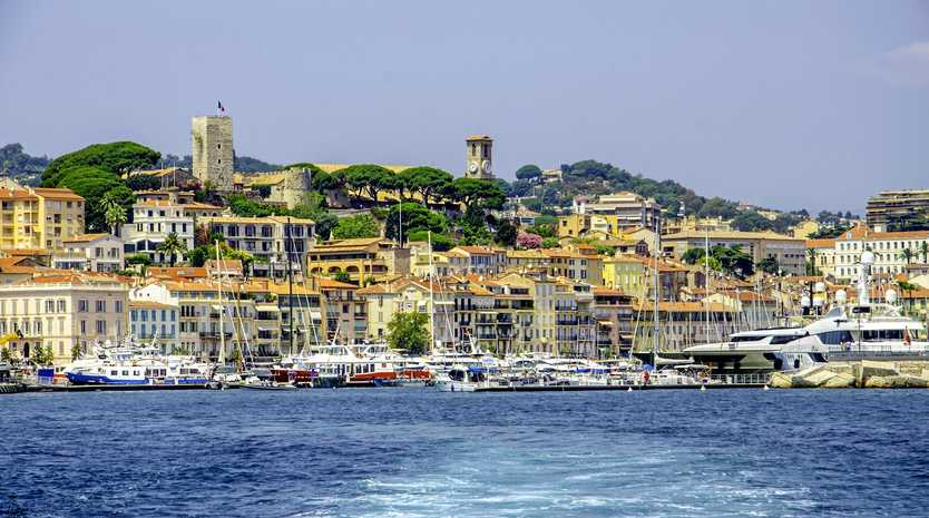 The French harbour town Cannes.