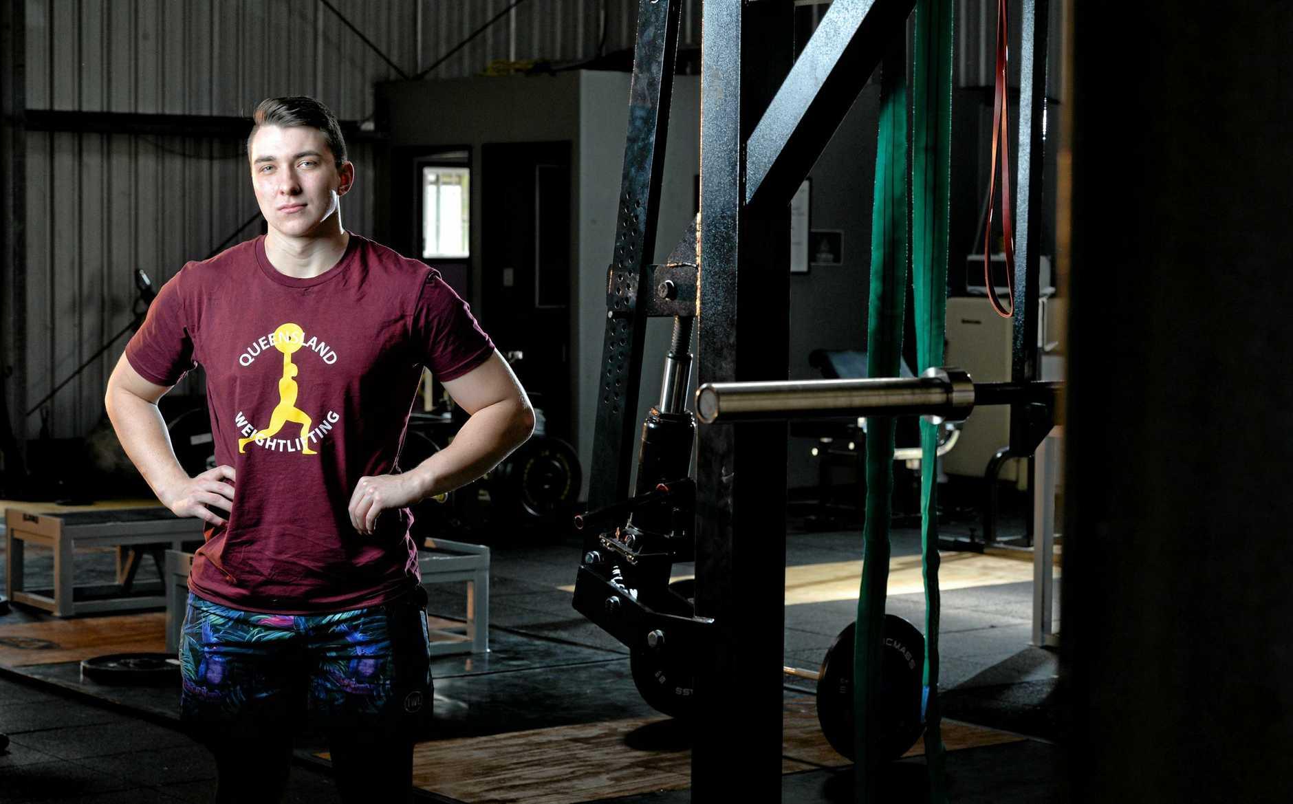Braydan Fender is the Australian Weightlifting Federation junior champion.