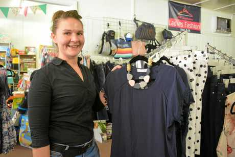 BUSH MYERS: Business owner Anita Blanch in Proston's department store, NB Inspirations, which her business partner Nick Blanch opened to fill a gap in the community.