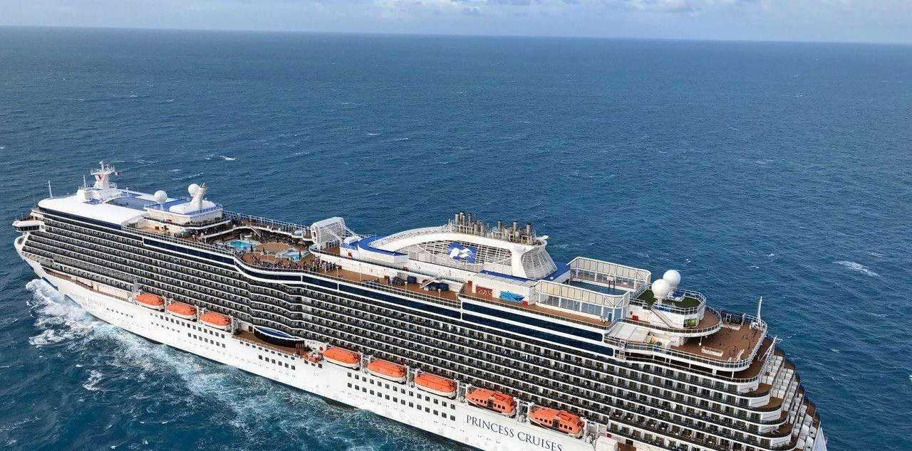 A seriously ill 68-year-old South Australian tourist was winched off the 330-metre long cruise ship Majestic Princess about 84km south-east of Mackay this morning and transported to Townsville hospital.