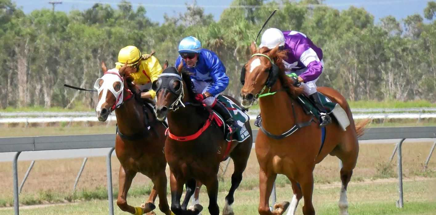 TO THE FINISH: Jockeys in action during the 2017 Bowen Cup.