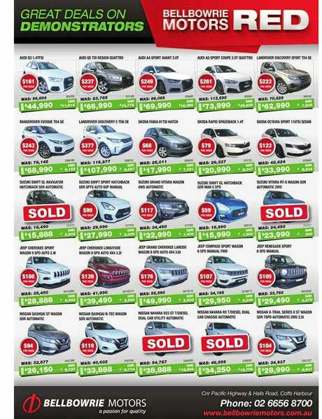 Spring car deals on the Coffs Coast.