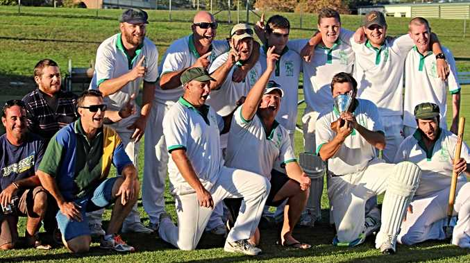 WINNING FORM: RSL celebrates winning their second Stanthorpe Cricket season on the bounce and will hope to make it three when play resumes on October 6.
