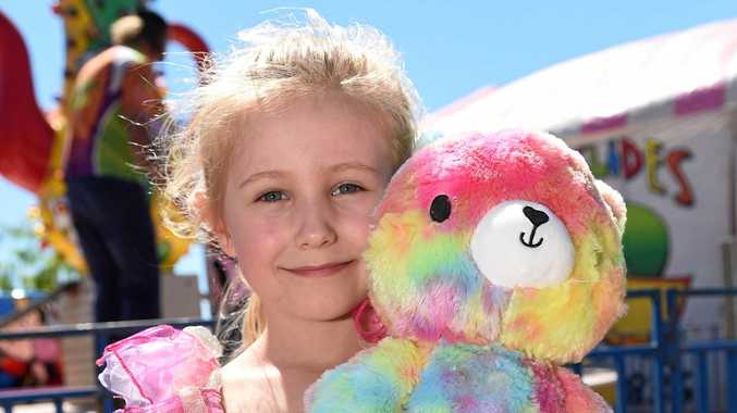 TEDDY BEAR'S PICNIC: Six-year-old Ellie Campbell-Daly and her beautiful teddy enjoyed the picnic.