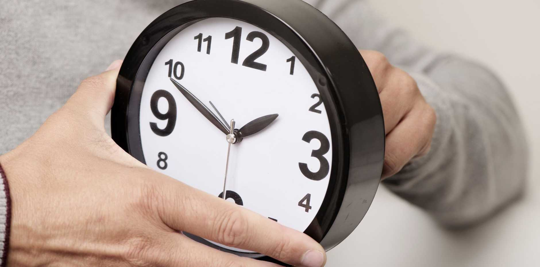 DAYLIGHT SAVING: Sunday is the time to move your clocks forward.