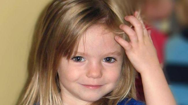 Missing British child kidnapping victim Madeleine McCann. Picture: Supplied
