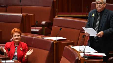 The pair sit right next to each other, making the spray even more awkward. Pic: AAP
