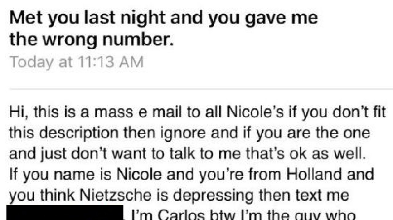 The email was quickly uploaded to Twitter. Picture: Nicole Sparling/Twitter