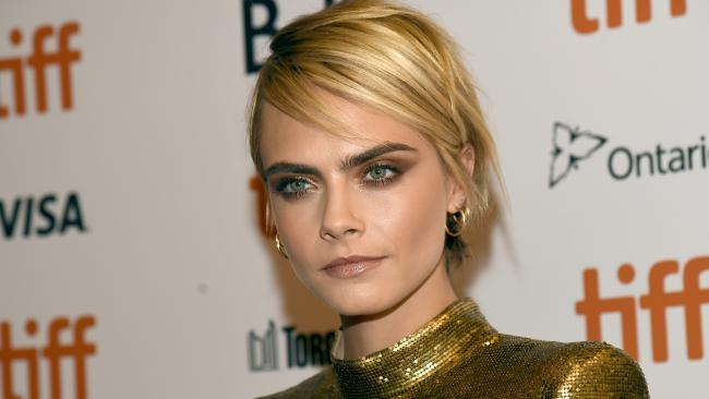 Cara Delevingne has remained silent on her rumoured relationship with actress Ashley Benson. Picture: AP