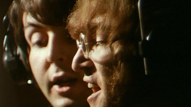 Beatles members Paul McCartney (L) and John Lennon in 1968. Picture: Supplied