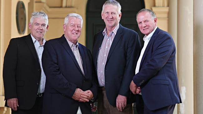 Neill, John, Denis and Joe Wagner. Pic Annette Dew