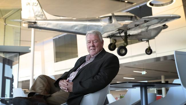 A proud John Wagner at his Toowoomba Wellcamp Airport, just outside Toowoomba. Photo: Lyndon Mechielsen/The Australian