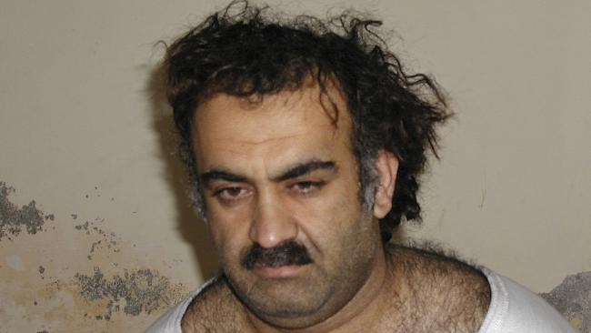 Khalid Sheikh Mohammed, the alleged September 11 mastermind, is seen shortly after his capture during a raid in Pakistan in 2003.  Picture:  AP