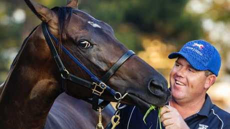Trainer Ben Smith with In Her Time. Picture: Picture: Jenny Evans
