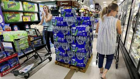 Shoppers in South Carolina stock up on supplies as Hurricane Florence approaches.