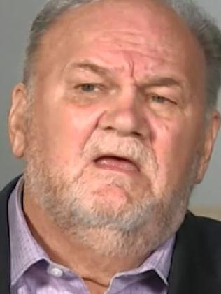 Thomas Markle has said his daughter is not happy in the public eye. Picture: ITV