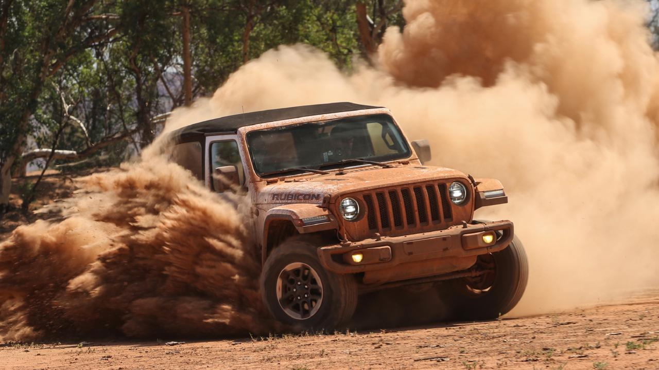 Outback testing: The new Jeep Wrangler was put through its paces in Australia.