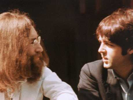 John Lennon, left, and Paul McCartney in 1969. Picture: Supplied