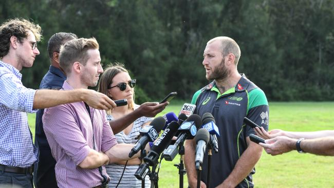 James Stannard addresses the media about the future of his playing career.