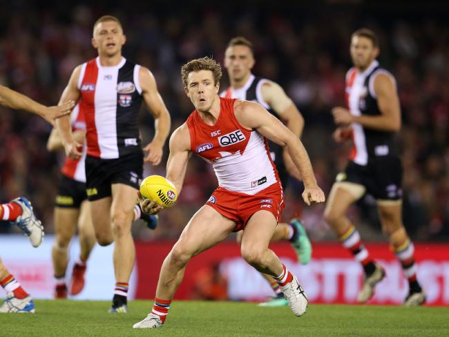 Sydney has ruled out trading midfield star Luke Parker. Picture: Michael Klein