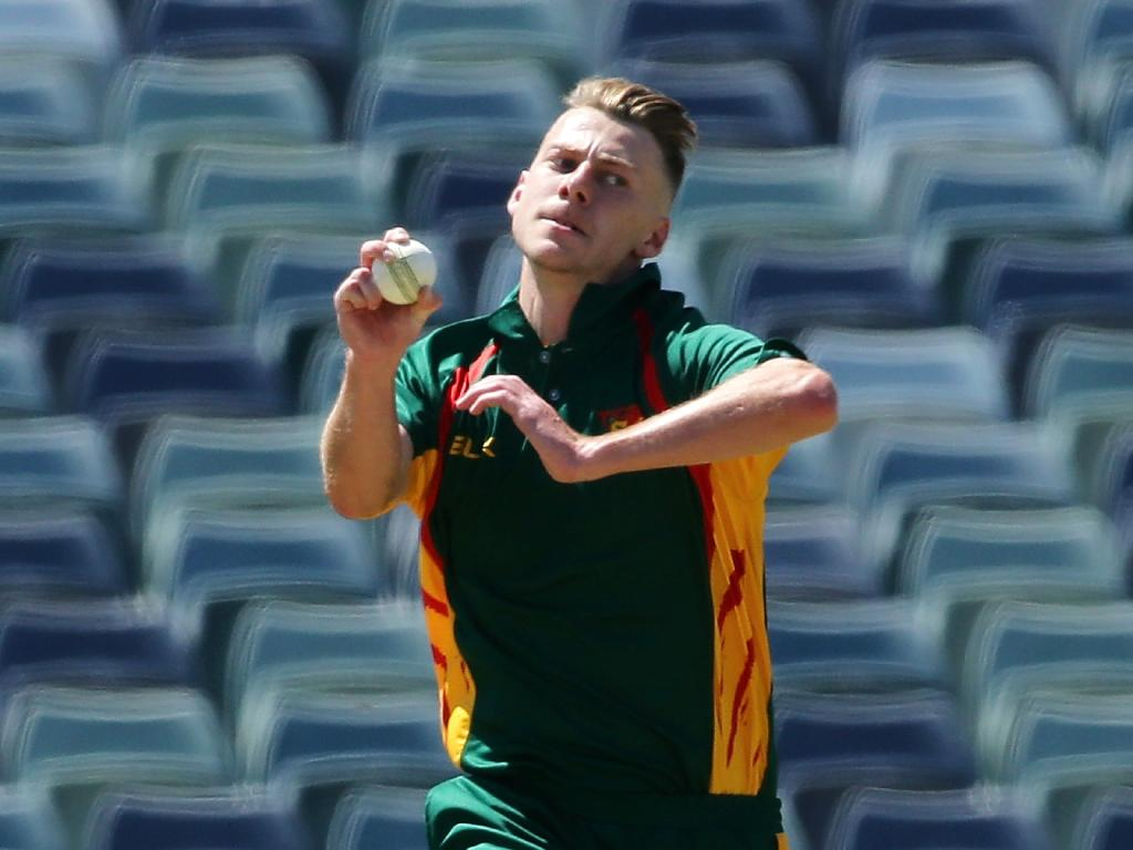 Riley Meredith is among Tasmania's fastest bowlers, coach Adam Griffith said.