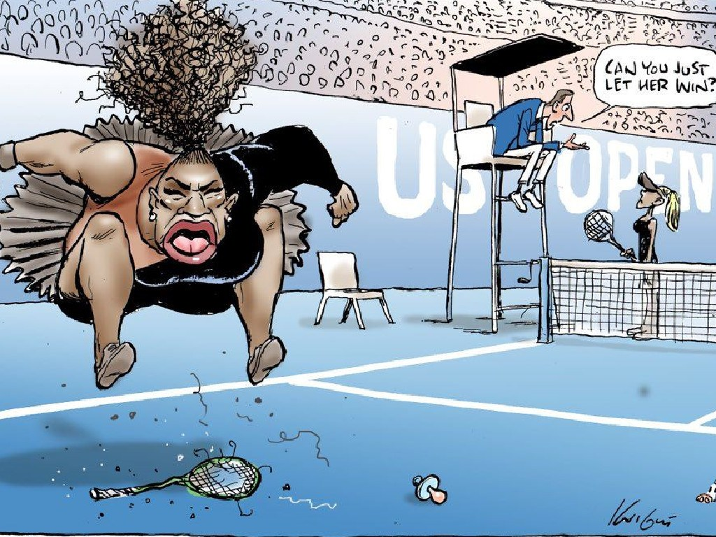 Mark Knight's Serena Williams cartoon.