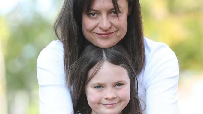 Yvette Miller with daughter Harper Nielsen, 9. Picture: Annette Dew
