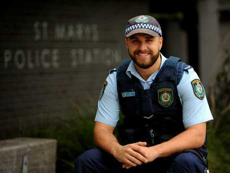 Daniel Hadley was named police officer of the year for St Marys Local Area Command in 2014.