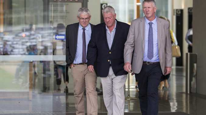 Neill, John and Denis Wagner, as well as brother Joe, are suing Alan Jones for defamation. Picture: AAP Image/Glenn Hunt