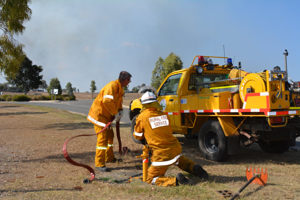 Crews are battling a grass fire which started at Philps road, Grantham. September 13, 2018.