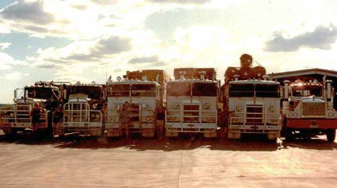MEMORY LANE: The first six truck of successful family business Wickham Freighlines.