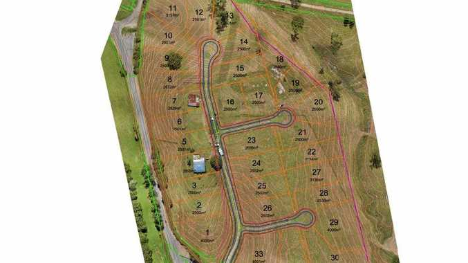 Plans for a 33-lot subdivision on Blue Knob Rd, just north of the village of Nimbin.