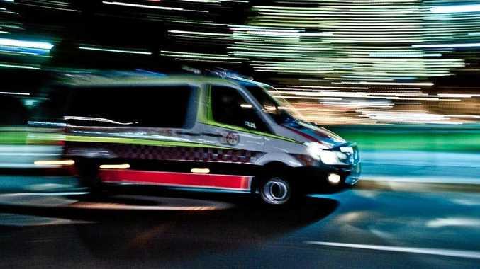 Ambulance attended the scene around 9.41pm last night.