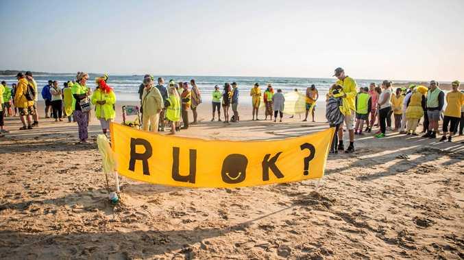 RUOK? Day at Woolgoolga Beach.
