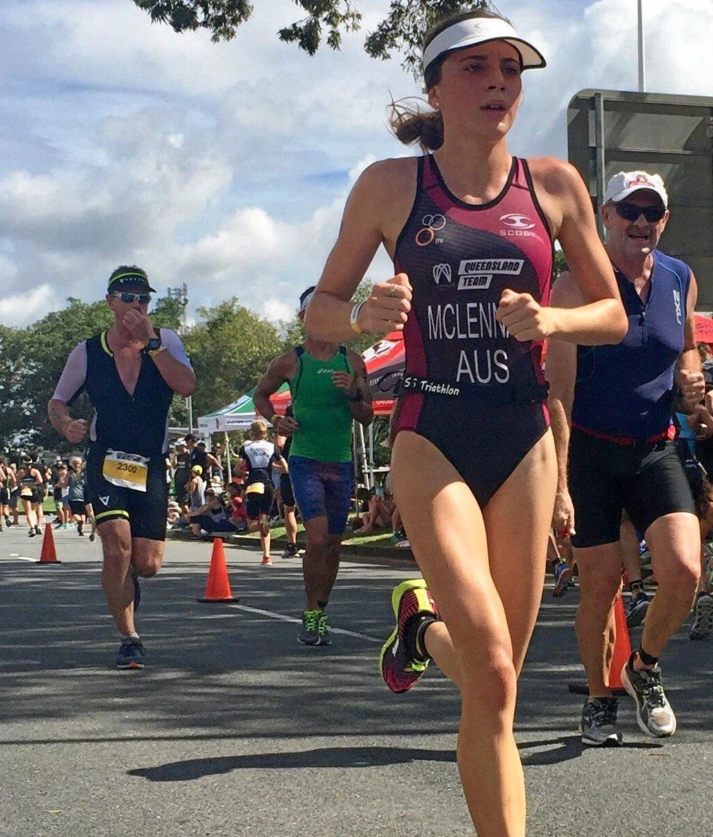 TALENTED: Chloe McLennan in full race mode.