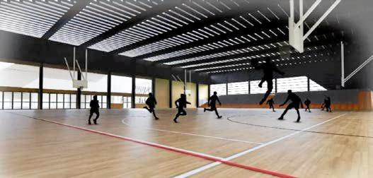 Artist's impression of the Ballina indoor sports centre.