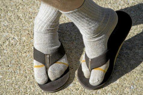 SORRY, KIDS: Lisa Donovan's new preferred form of footwear.