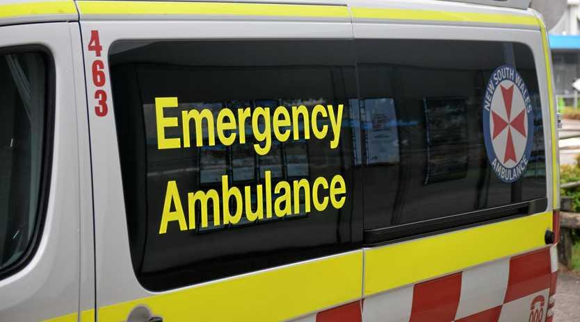 CRASH: Paramedics transported the man to Murwillumbah District Hospital