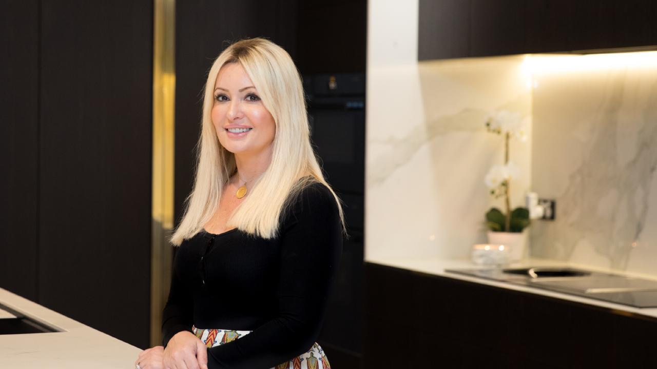 Margaret Kocovski in her dream kitchen. Photo: Dominika Lis