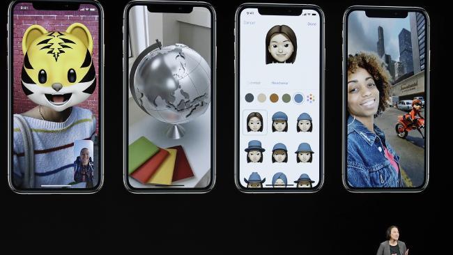 Kaiann Drance, Apple's senior director, spruiks the new iPhone features. Picture: Marcio Jose Sanchez